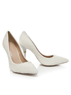 Bonnyin Pearls Spitzschuh High Heels
