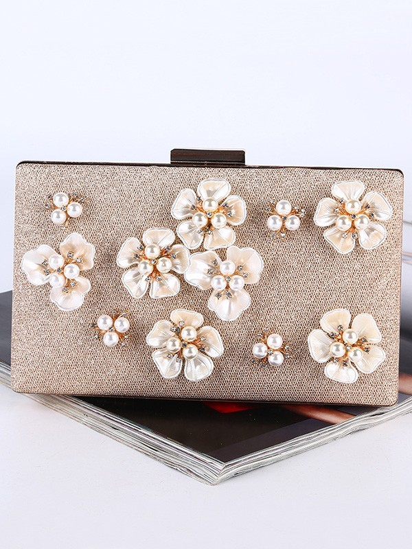 Graceful Pearl Evening/Party Handtaschen mit Blumen