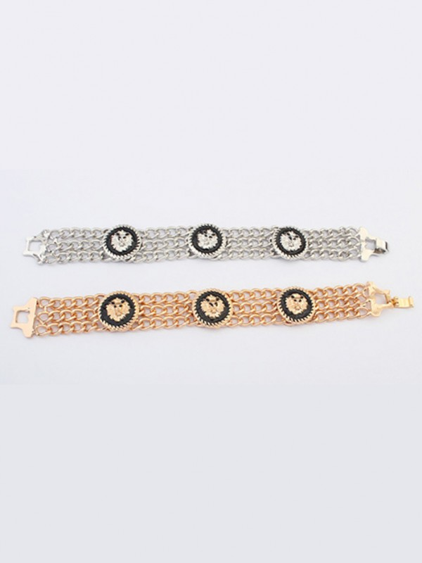 Occident Hyperbolic Punk Retro Lionhead Hot Sale Bracelets